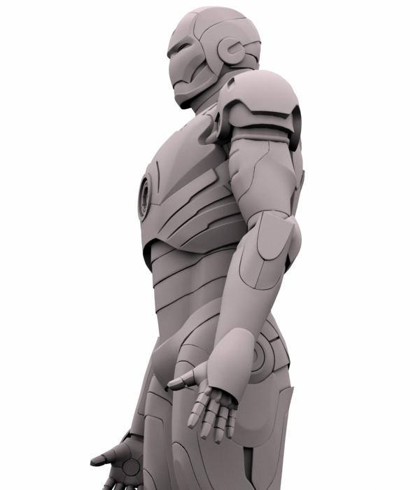 iron man 3d model 3ds max fbx obj 208676
