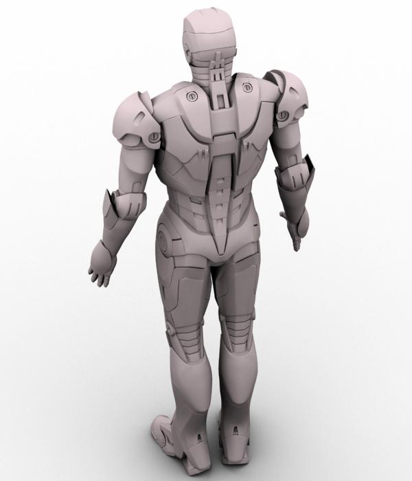 iron man 3d model 3ds max fbx obj 208677