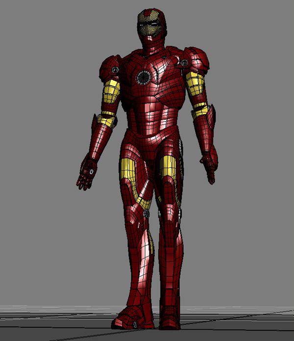 iron man 3d model 3ds max fbx obj 208678