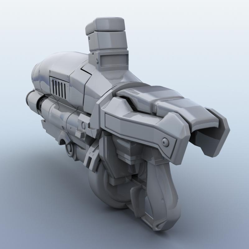 3d Gun Image 3d Home Architect: Sci-Fi Gun 3D Model – Buy Sci-Fi Gun 3D Model