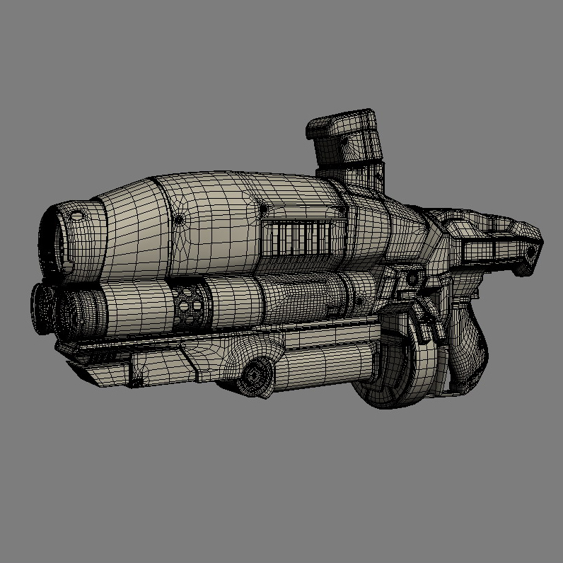 sci-fi gun 3d model 3ds max fbx obj 208686