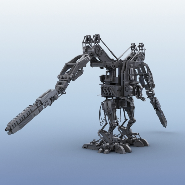 model 02 3d robot 3ds max fbx obj 208689