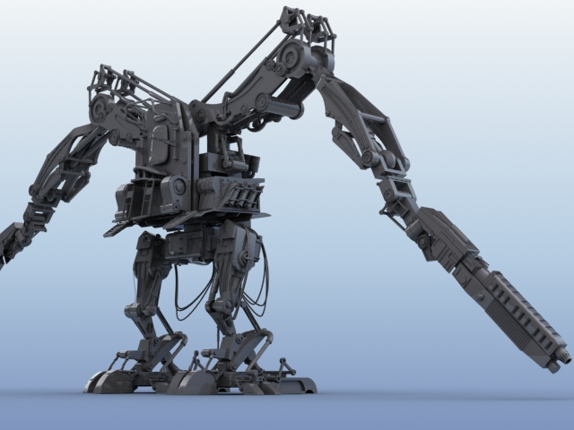 robot 02 3d model 3ds max fbx obj 208690