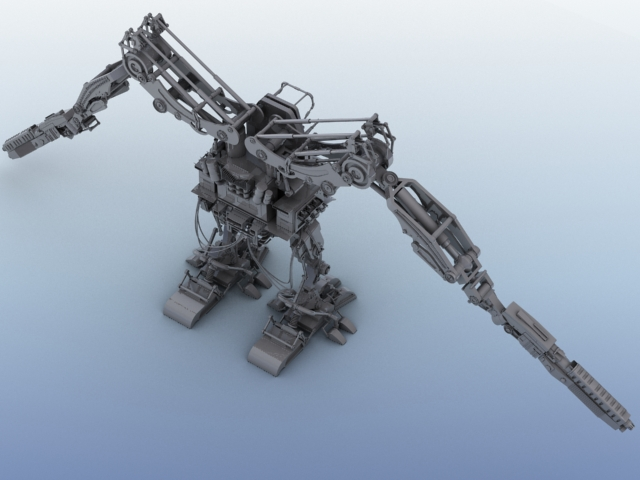 robot 02 3d model 3ds max fbx obj 208691