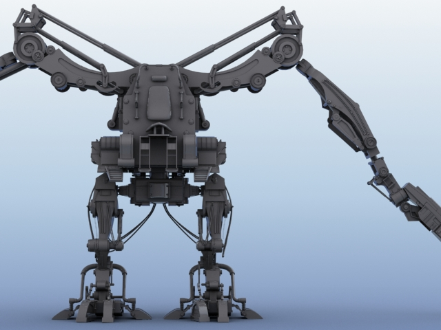 robot 02 3d model 3ds max fbx obj 208692