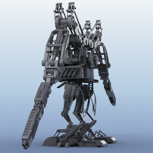 robot 02 3d model 3ds max fbx obj 208693
