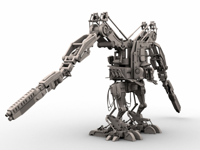 robot 02 3d model 3ds max fbx obj 208694