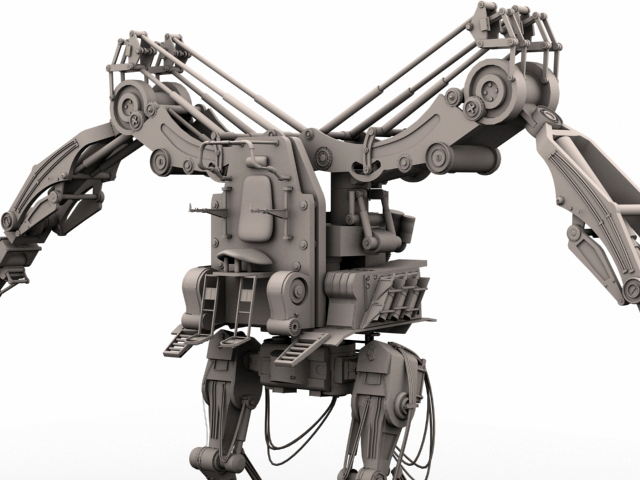 robot 02 3d model 3ds max fbx obj 208695