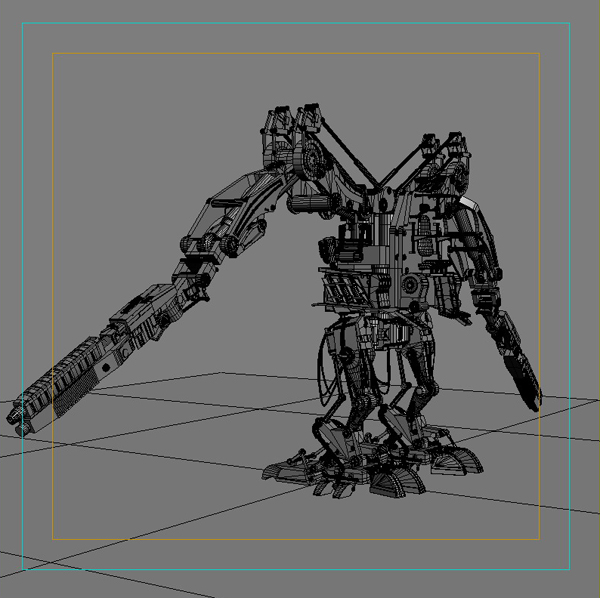 robot 02 3d model 3ds max fbx obj 208696