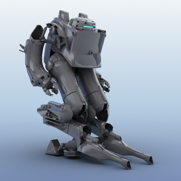 robot 03 3d model 3ds max fbx obj 208698