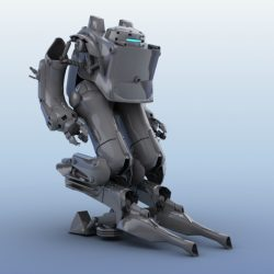 Robot 03 3d model 3ds max fbx obj