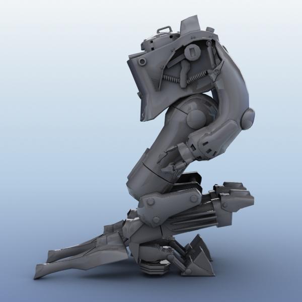 model 03 3d robot 3ds max fbx obj 208699