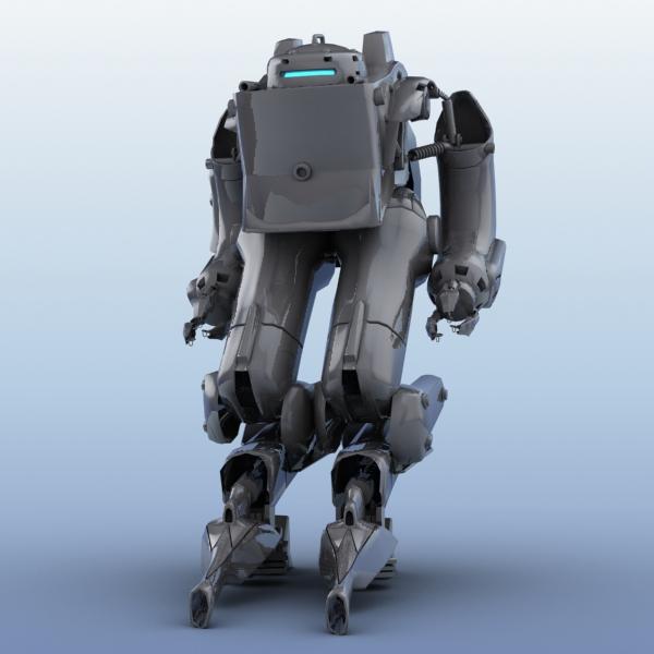 model 03 3d robot 3ds max fbx obj 208701