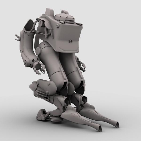 model 03 3d robot 3ds max fbx obj 208702