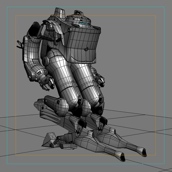 model 03 3d robot 3ds max fbx obj 208703