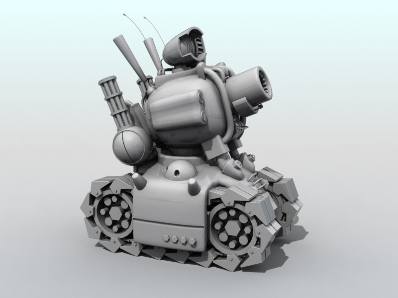 metal slug tank 3d model 3ds max fbx obj 208705