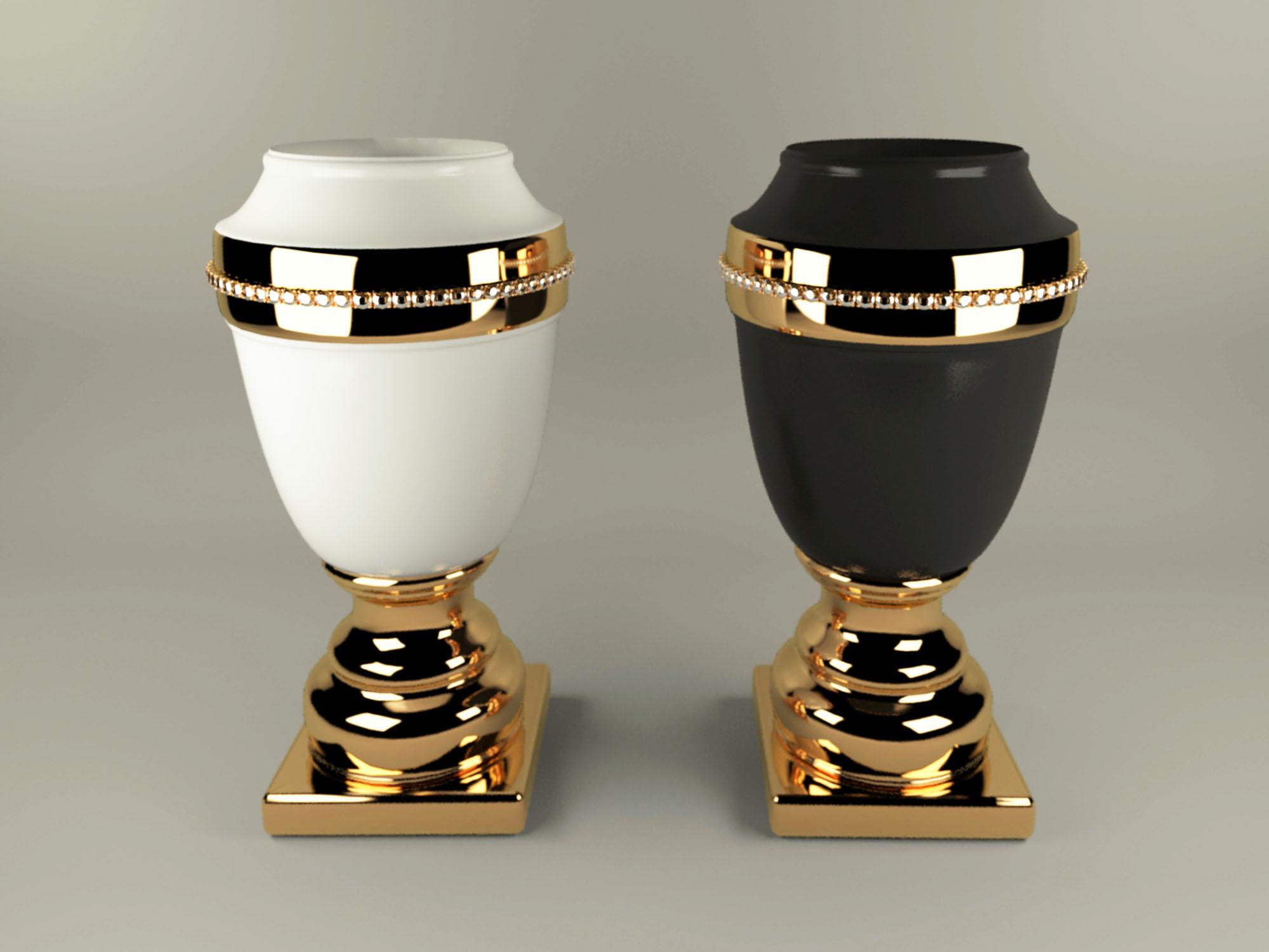 vase ahura arcade 3d model max obj 208717