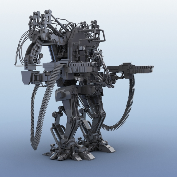 model 04 3d robot 3ds max fbx obj 208722