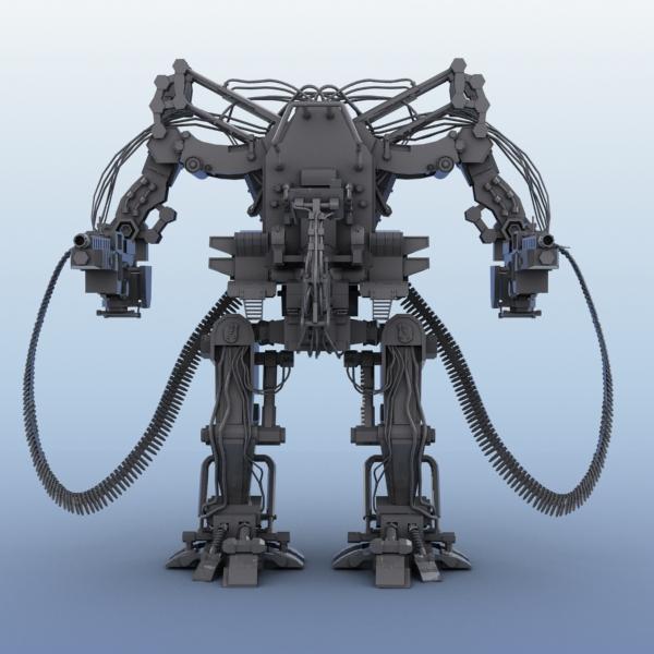 model 04 3d robot 3ds max fbx obj 208723