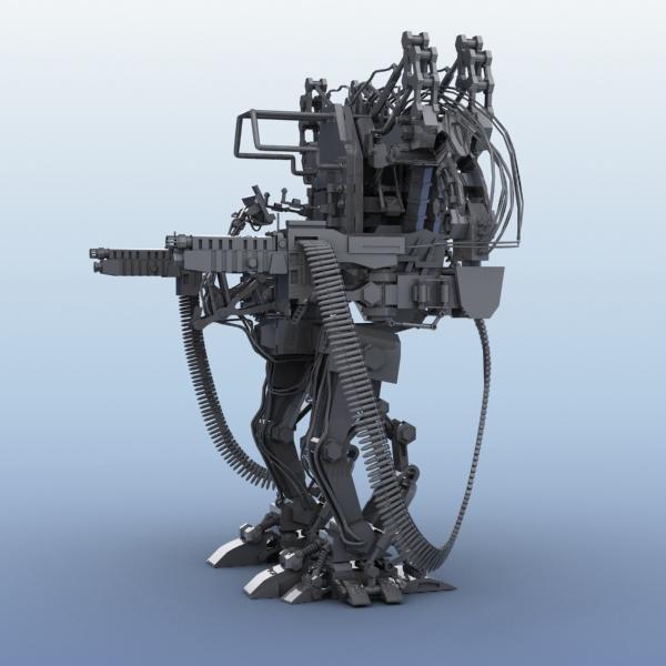 model 04 3d robot 3ds max fbx obj 208724