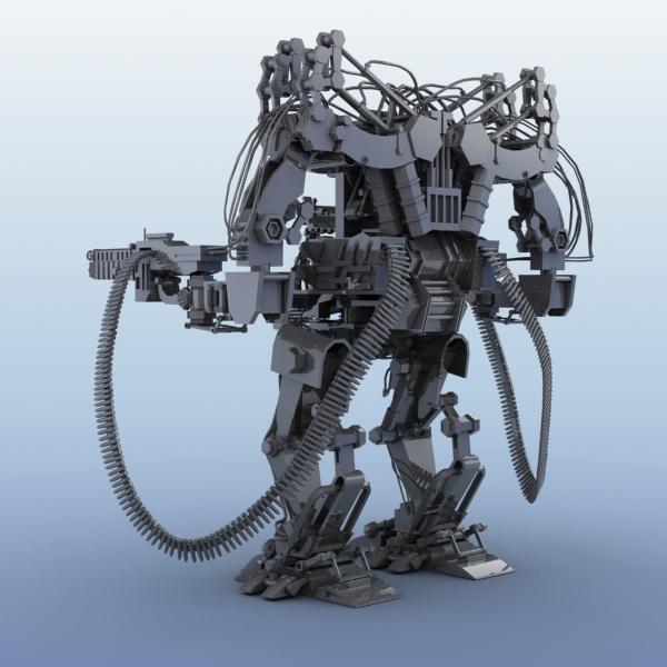model 04 3d robot 3ds max fbx obj 208725