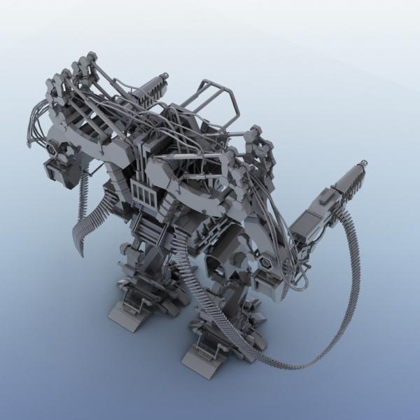 model 04 3d robot 3ds max fbx obj 208726