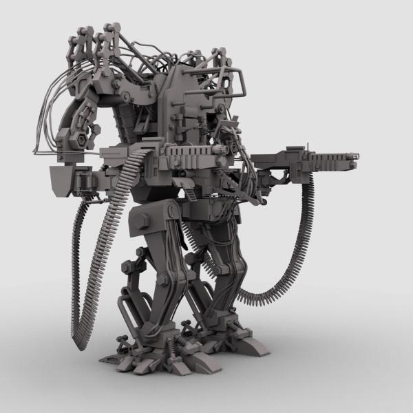 model 04 3d robot 3ds max fbx obj 208727