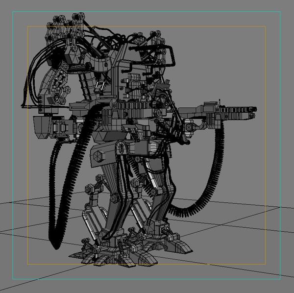 model 04 3d robot 3ds max fbx obj 208728