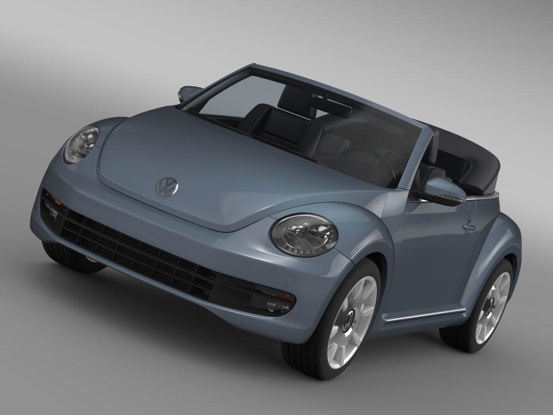 vw beetle cabriolet denim concept 2015 3d model 3ds max fbx c4d lwo ma mb hrc xsi obj 208766