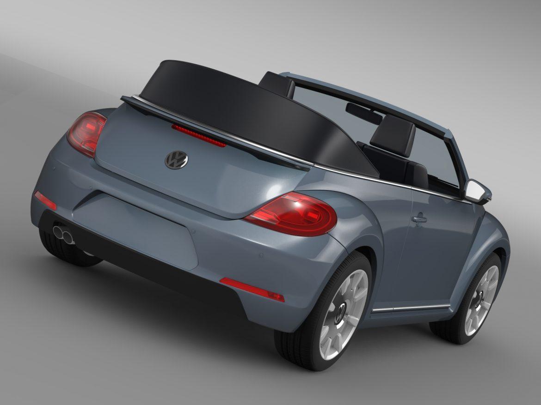 vw beetle cabriolet denim concept 2015 3d model 3ds max fbx c4d lwo ma mb hrc xsi obj 208767