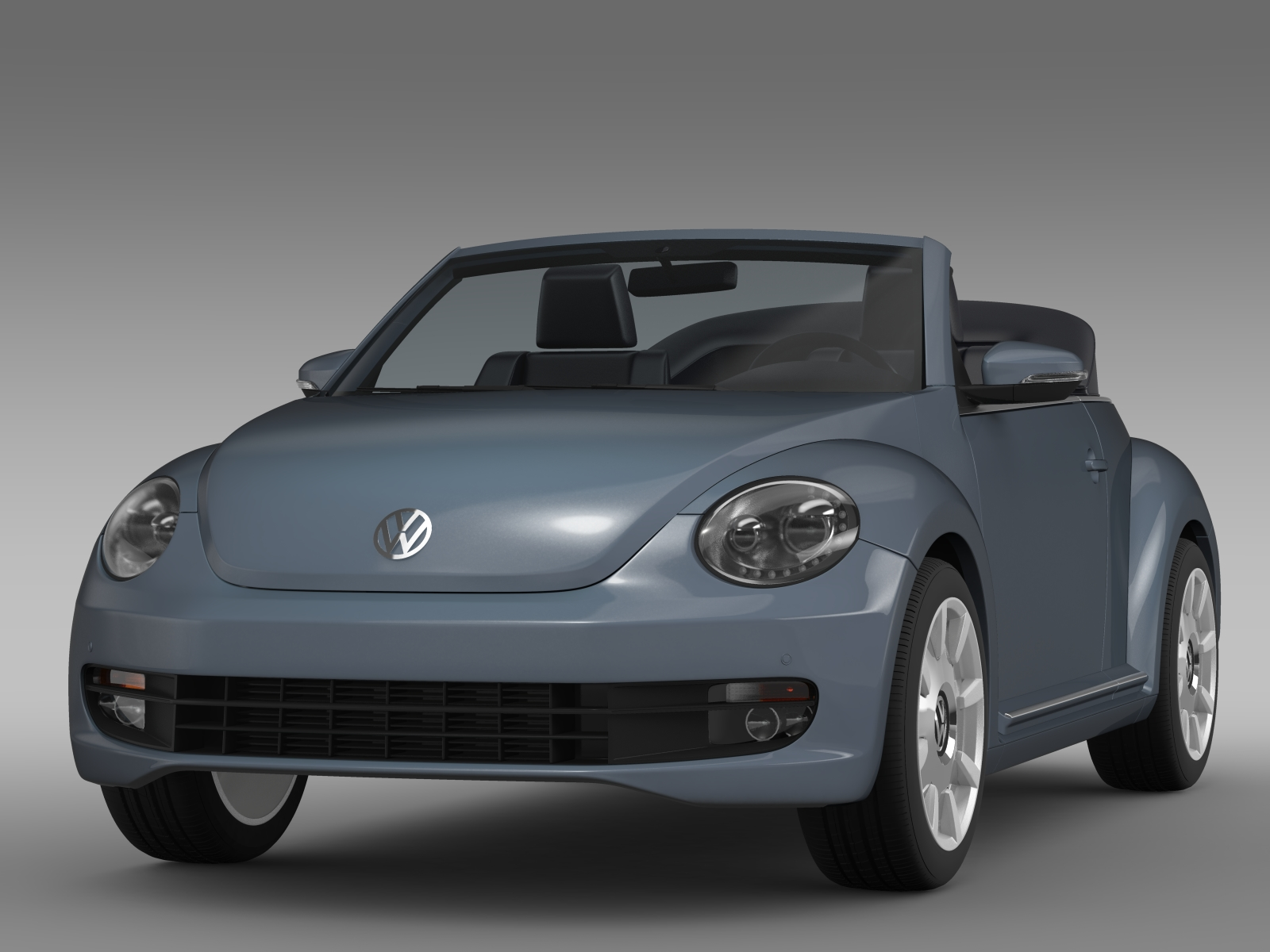 vw beetle cabriolet denim concept 2015 3d model. Black Bedroom Furniture Sets. Home Design Ideas