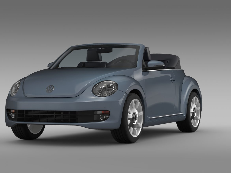 vw beetle cabriolet denim concept 2015 3d model 3ds max fbx c4d lwo ma mb hrc xsi obj 208769