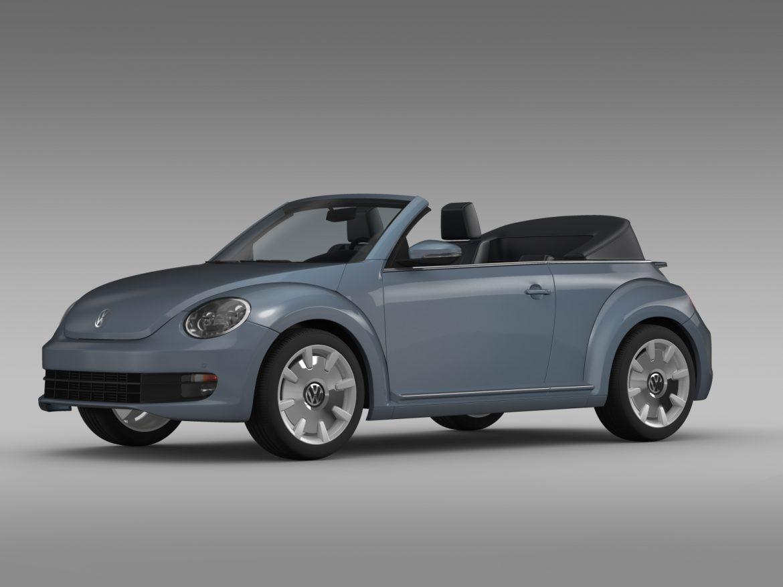 vw beetle cabriolet denim concept 2015 3d model 3ds max fbx c4d lwo ma mb hrc xsi obj 208770