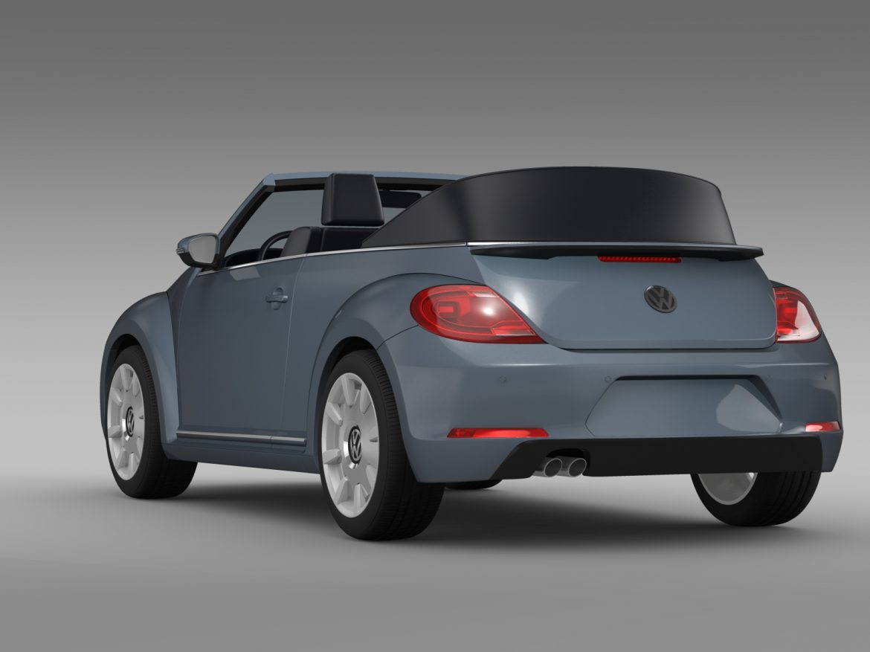 vw beetle cabriolet denim concept 2015 3d model 3ds max fbx c4d lwo ma mb hrc xsi obj 208773