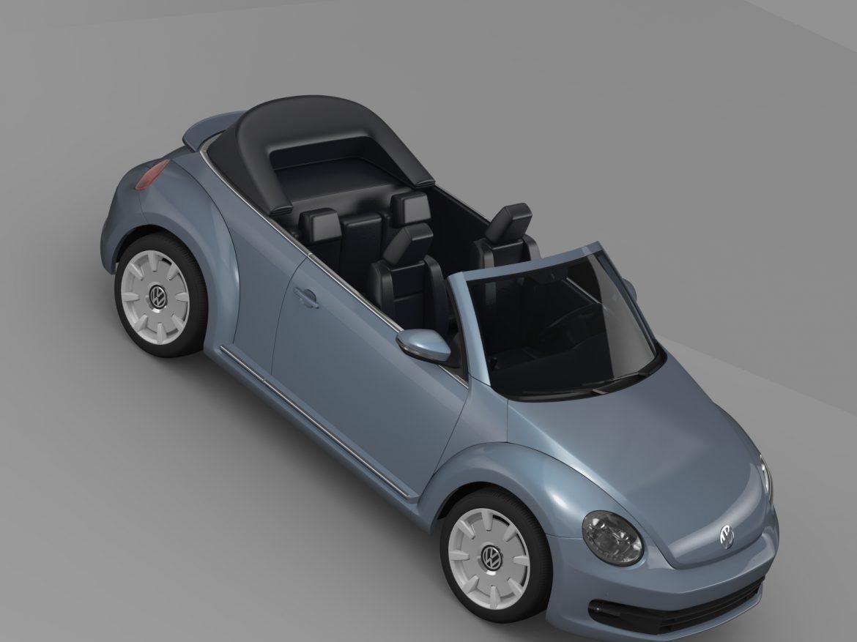vw beetle cabriolet denim concept 2015 3d model 3ds max fbx c4d lwo ma mb hrc xsi obj 208776