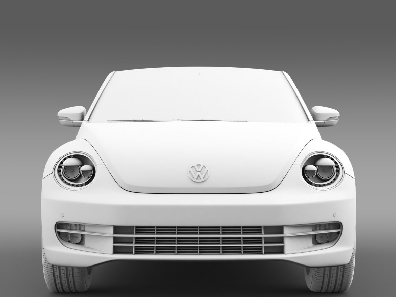 vw beetle cabriolet denim concept 2015 3d model 3ds max fbx c4d lwo ma mb hrc xsi obj 208778