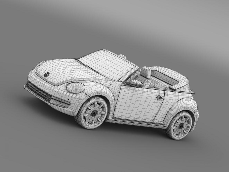 vw beetle cabriolet denim concept 2015 3d model 3ds max fbx c4d lwo ma mb hrc xsi obj 208782