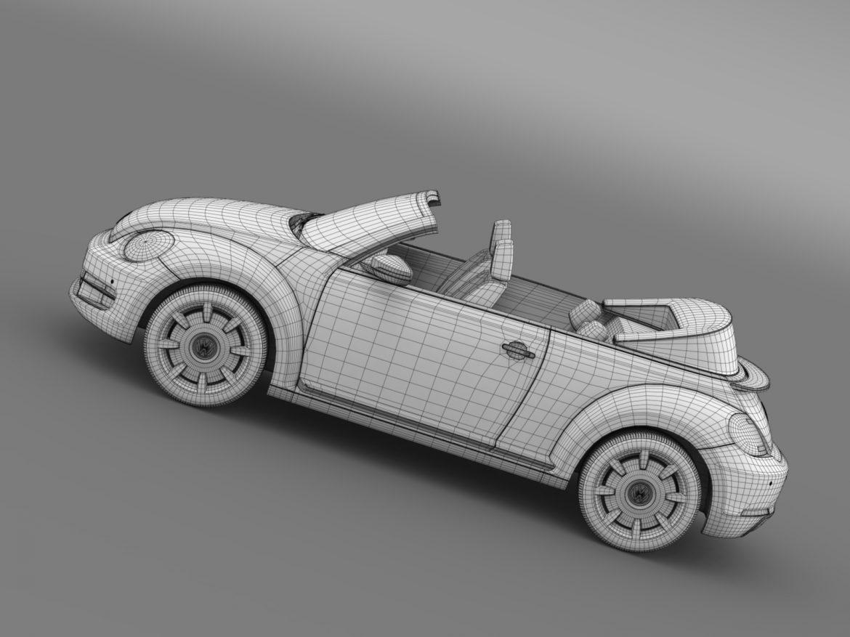 vw beetle cabriolet denim concept 2015 3d model 3ds max fbx c4d lwo ma mb hrc xsi obj 208783
