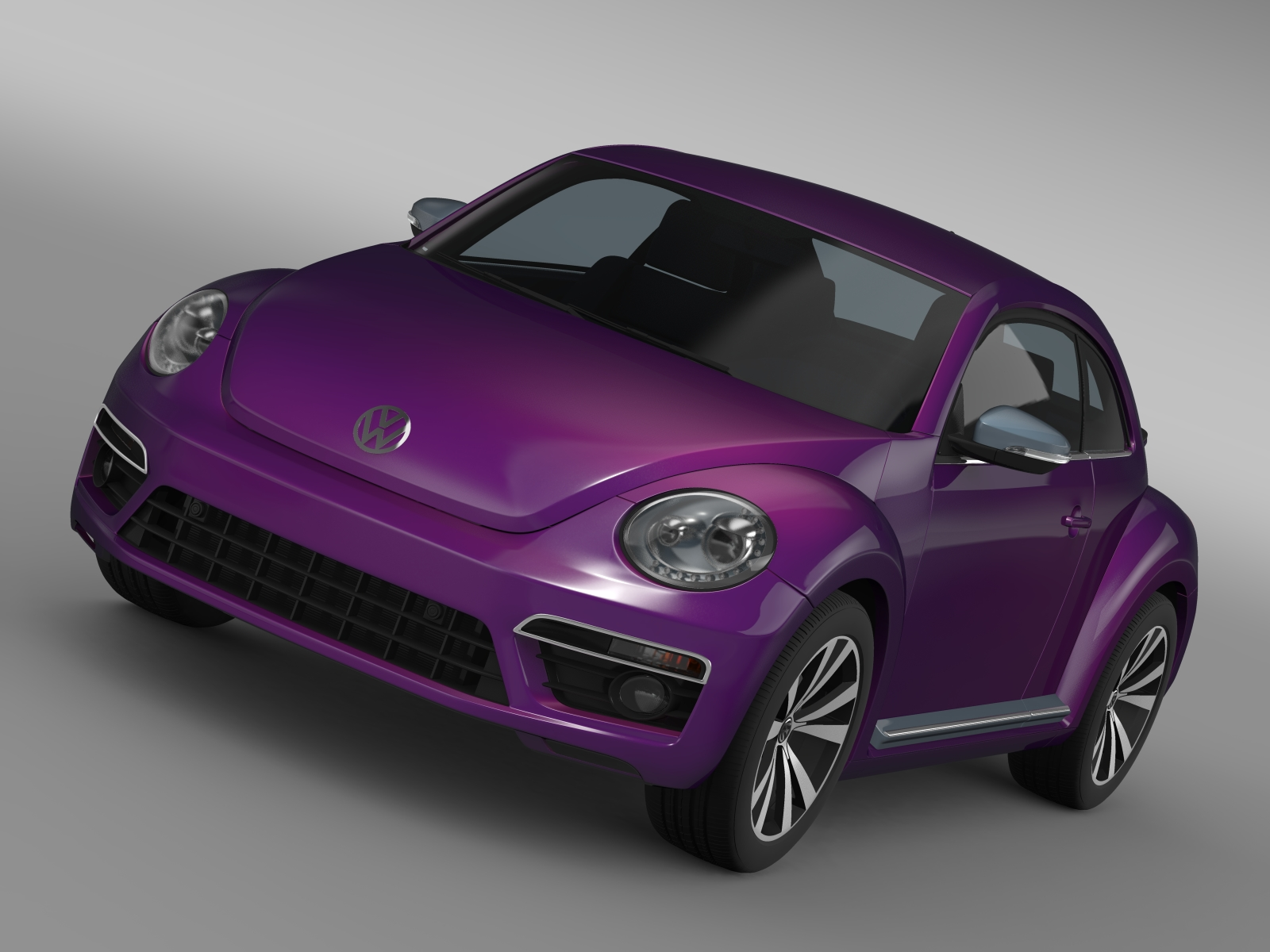 vw beetle pink edition concept 2015 3d model 3ds max fbx c4d lwo ma mb hrc xsi obj 208786