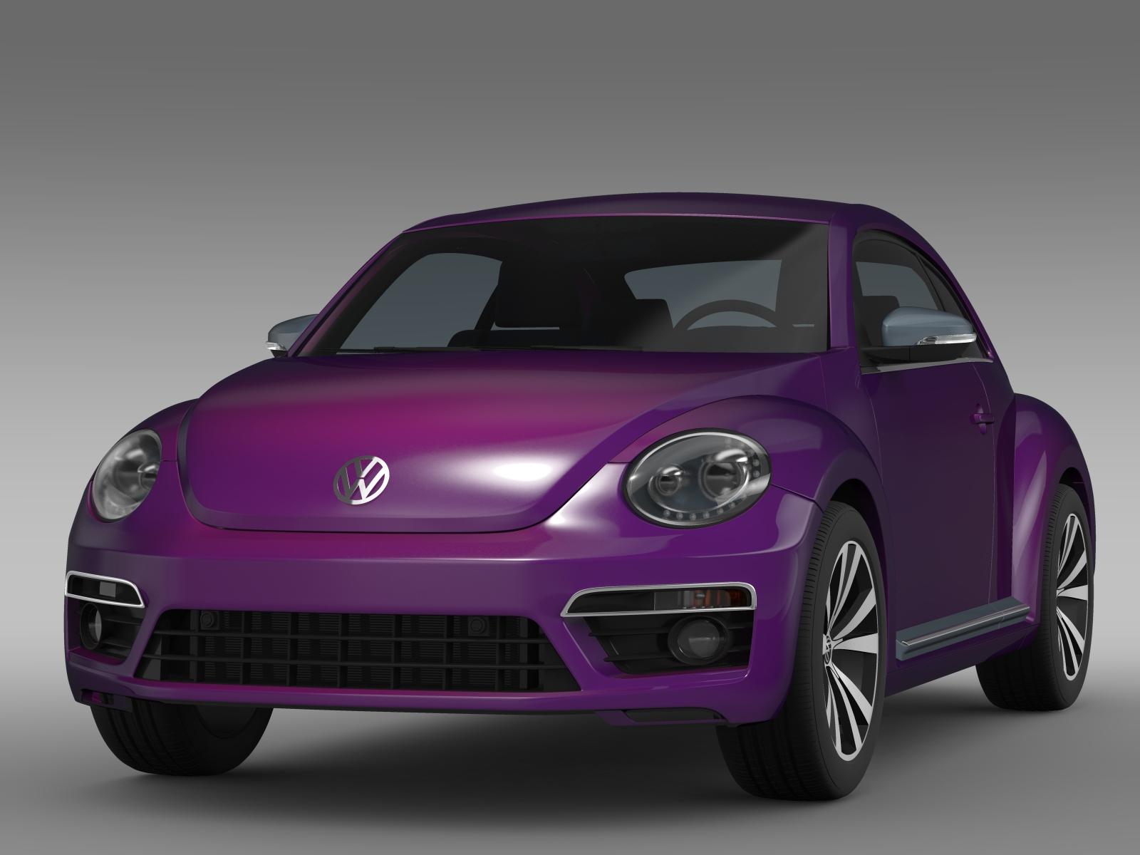 vw beetle pink edition concept 2015 3d model buy vw. Black Bedroom Furniture Sets. Home Design Ideas