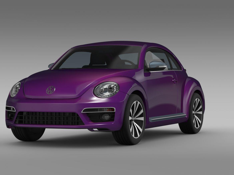 vw beetle pink edition concept 2015 3d model 3ds max fbx c4d lwo ma mb hrc xsi obj 208789