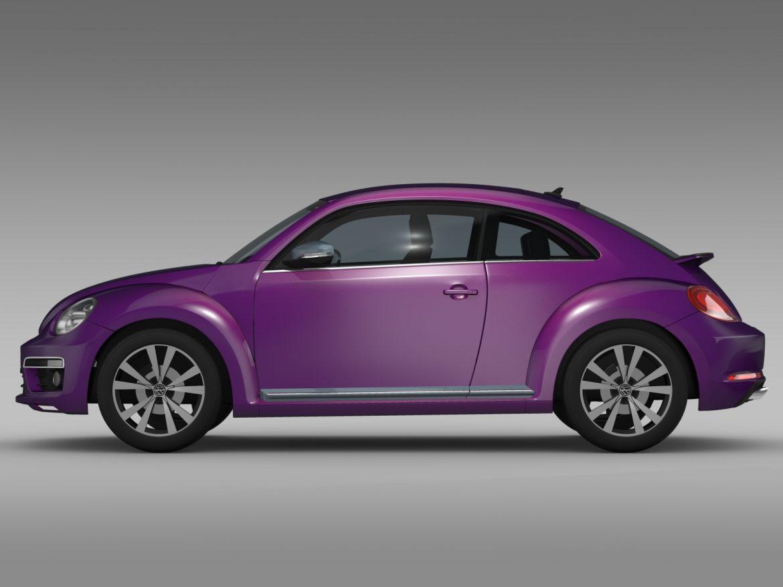 vw beetle pink edition concept 2015 3d model 3ds max fbx c4d lwo ma mb hrc xsi obj 208791