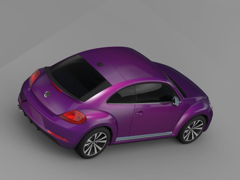 vw beetle pink edition concept 2015 3d model 3ds max fbx c4d lwo ma mb hrc xsi obj 208795