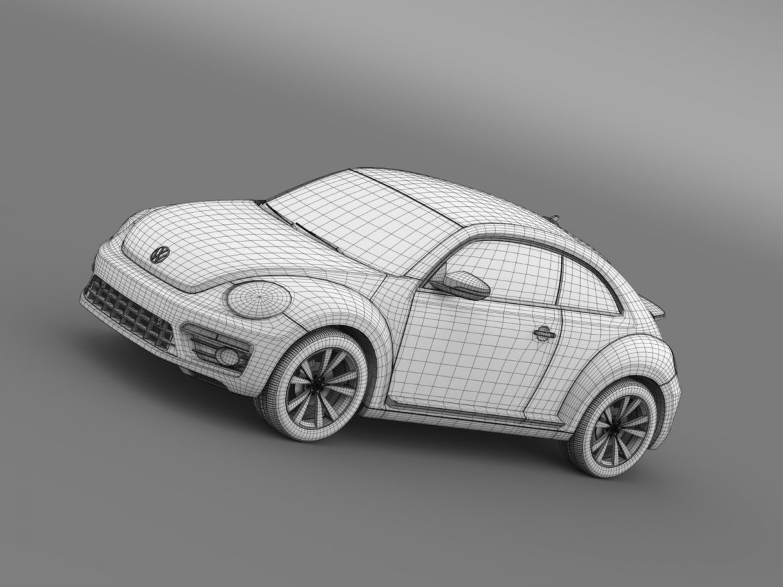 vw beetle pink edition concept 2015 3d model 3ds max fbx c4d lwo ma mb hrc xsi obj 208802