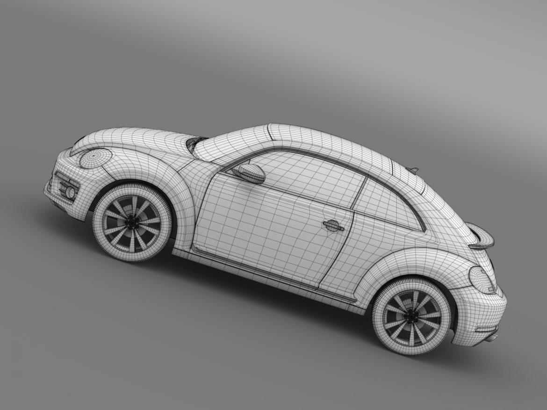 vw beetle pink edition concept 2015 3d model 3ds max fbx c4d lwo ma mb hrc xsi obj 208803