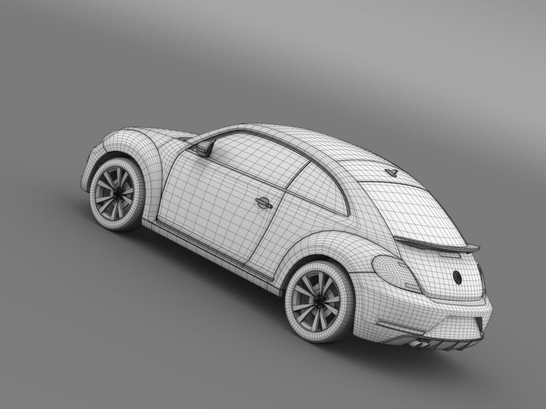 vw beetle pink edition concept 2015 3d model 3ds max fbx c4d lwo ma mb hrc xsi obj 208804