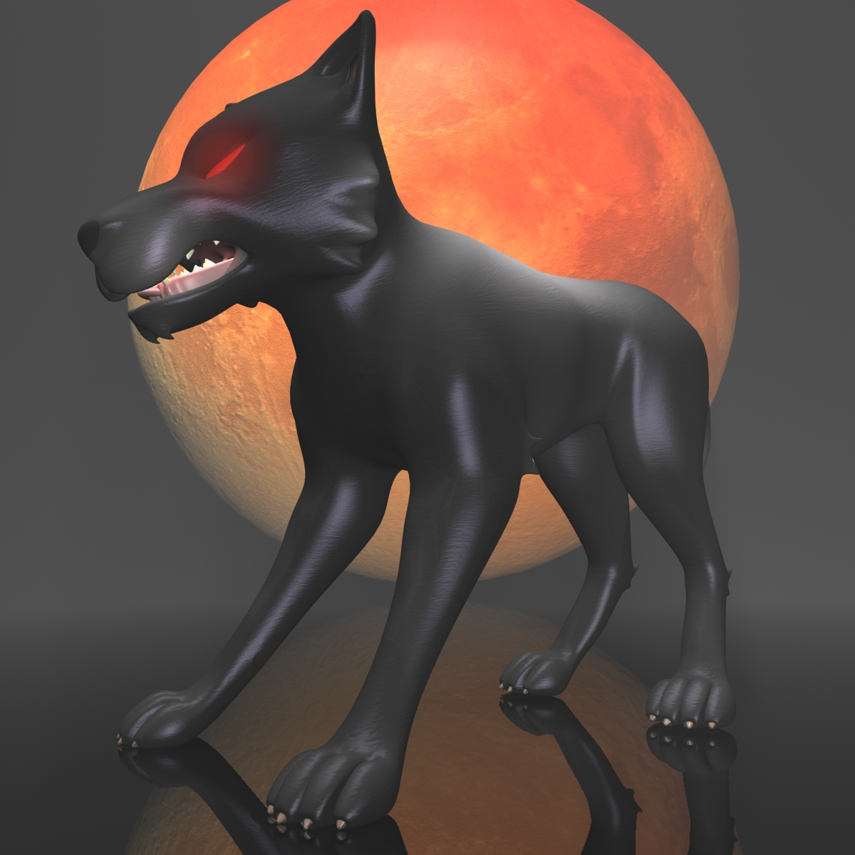 dark wolf rigged 3d model 3ds max fbx  obj 208810
