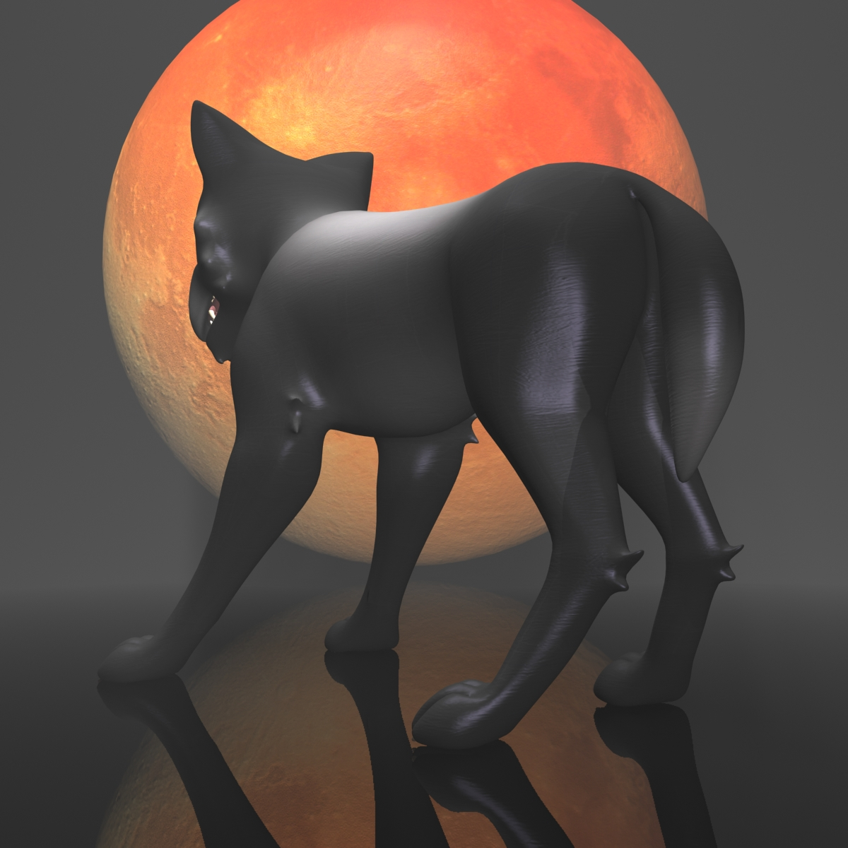 dark wolf rigged 3d model 3ds max fbx  obj 208812
