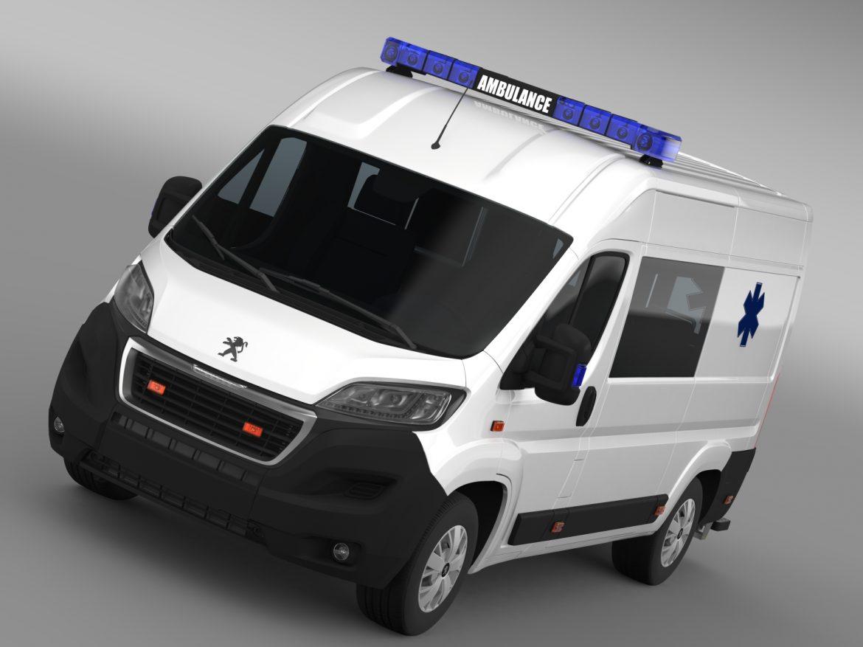 peugeot boxer van ambulance 2015 3d model 3ds max fbx c4d lwo ma mb hrc xsi obj 208871