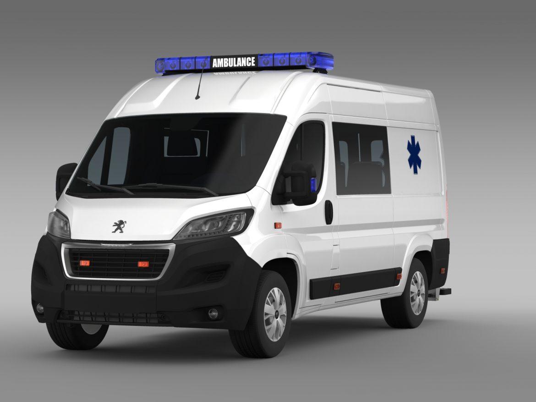 peugeot boxer van ambulance 2015 3d model 3ds max fbx c4d lwo ma mb hrc xsi obj 208874